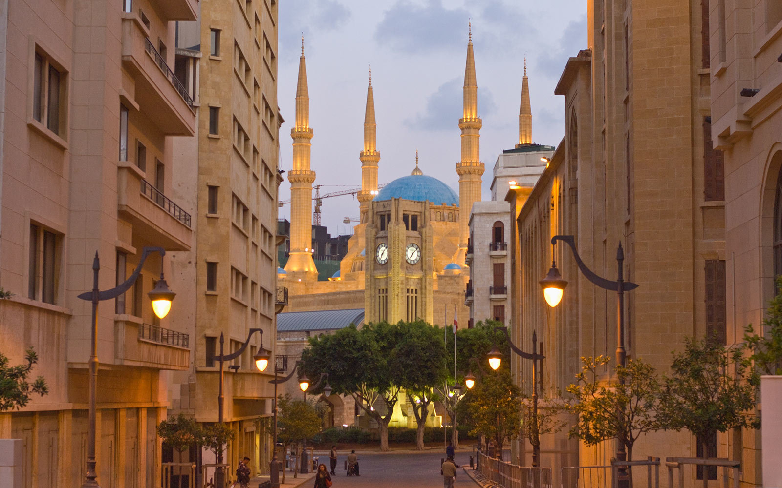 Etiole Square and Mosque Al Amin, Beirut, Lebanon