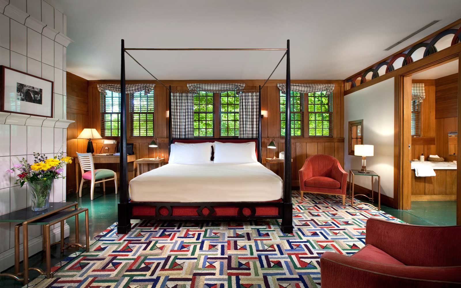 Room at Twin Farms, a luxury resort in Vermont