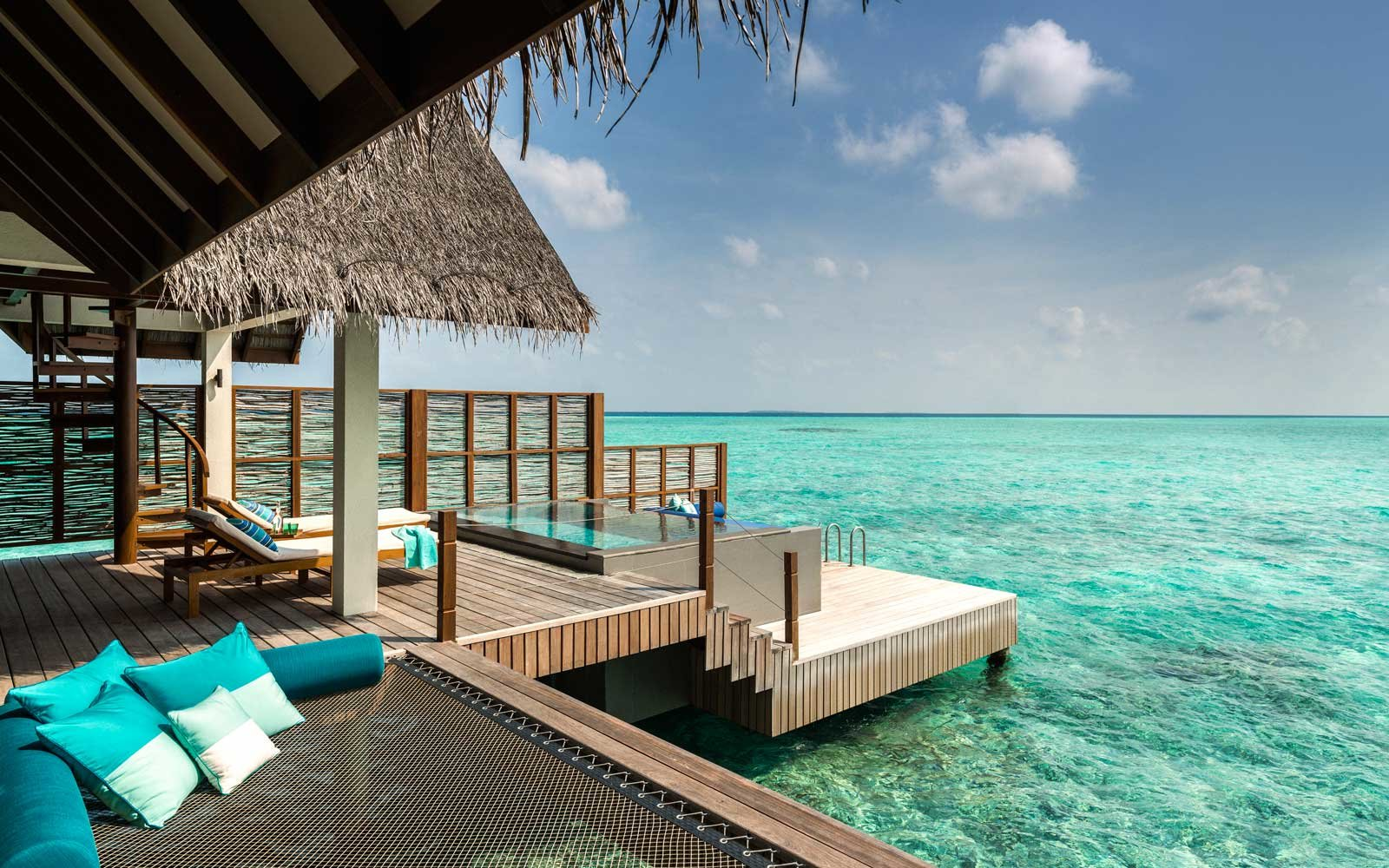 View from a villa at the Four Seasons Landaa Giraavaru in the Maldives