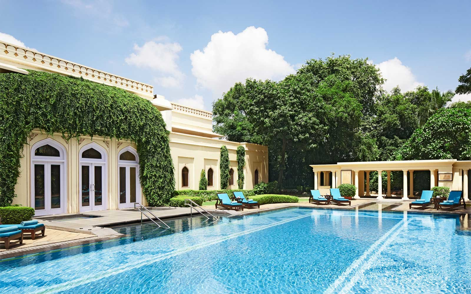 Pool at the Rambagh Palace, a Taj Hotel