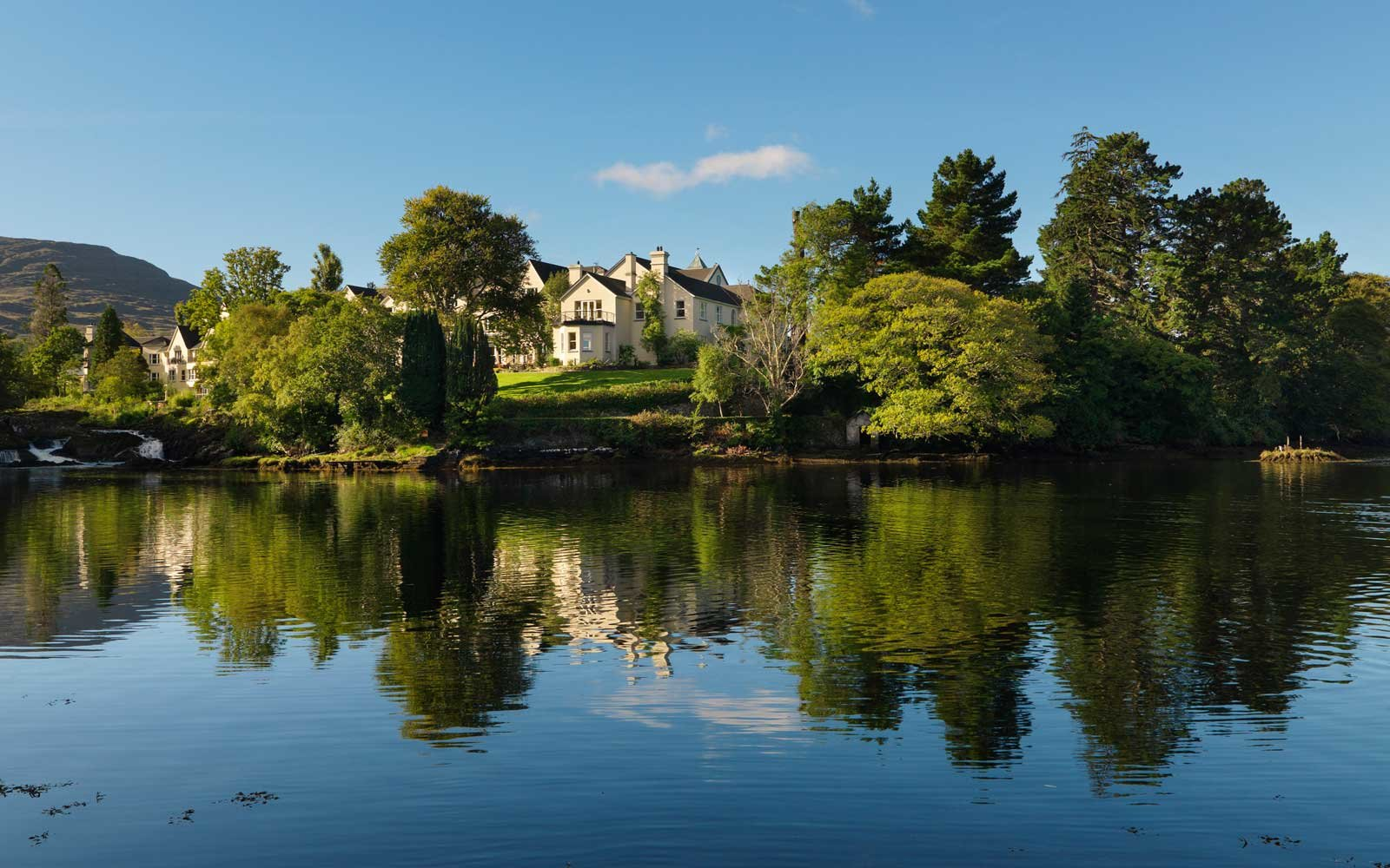 View of Sheen Falls Lodge in Ireland