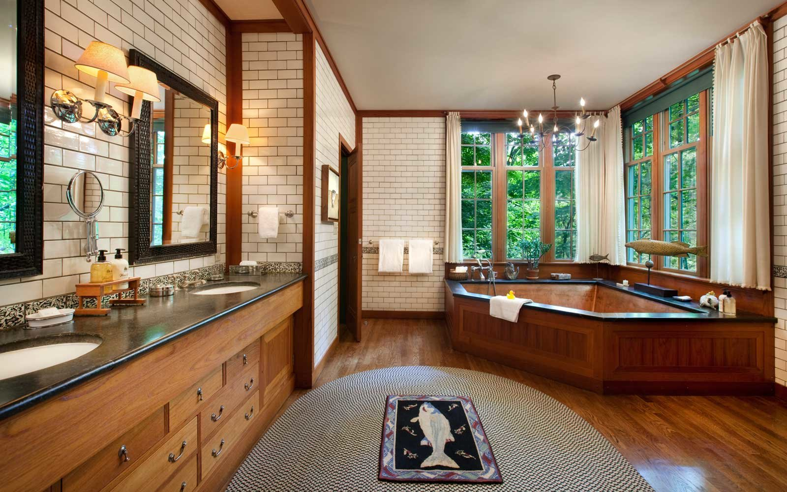 Luxury bathroom at Twin Farms, in Vermont