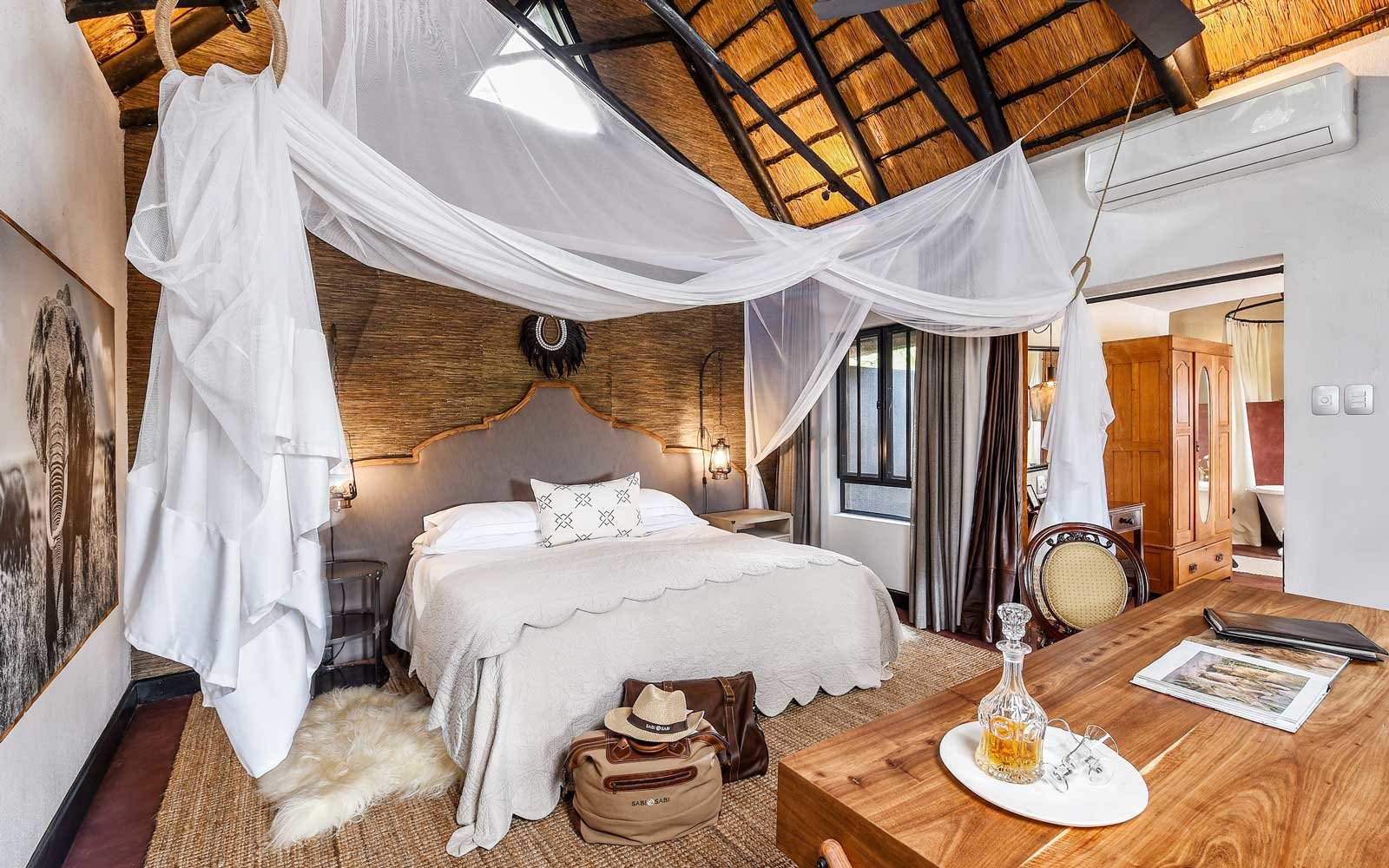 Bedroom in Selati lodge at Sabi Sabi Private Game Reserve