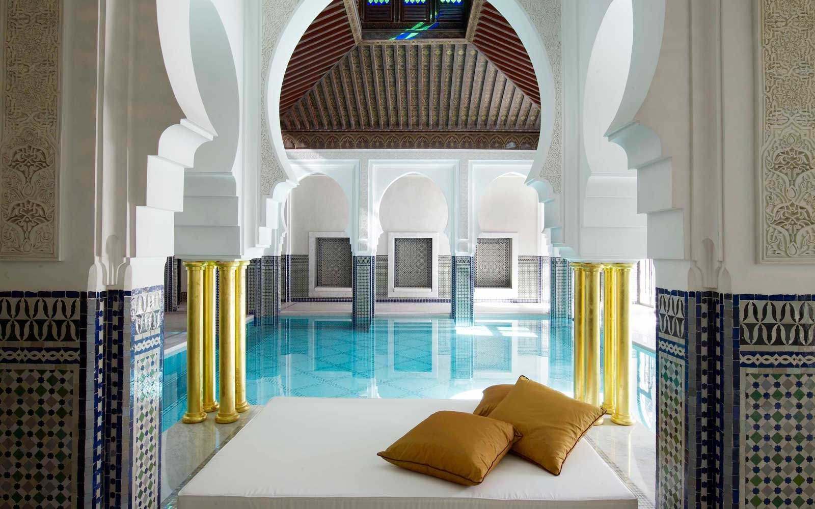 Indoor pool at La Mamounia Marrakesh