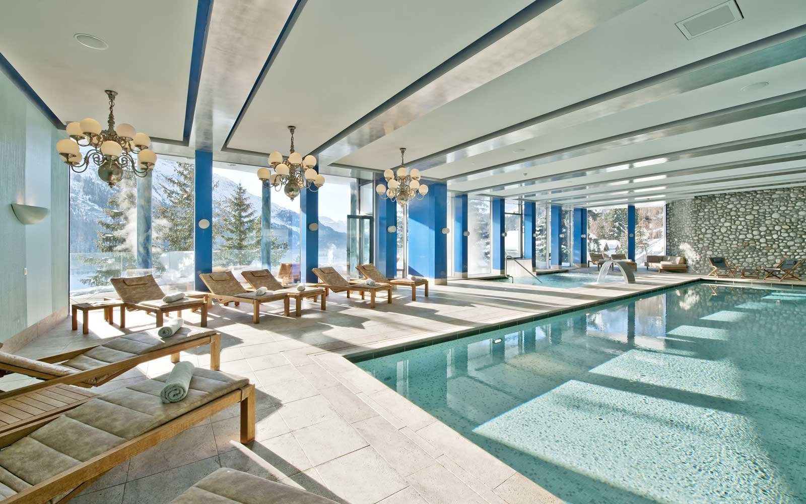 Spa pool at the Carlton Hotel St. Moritz