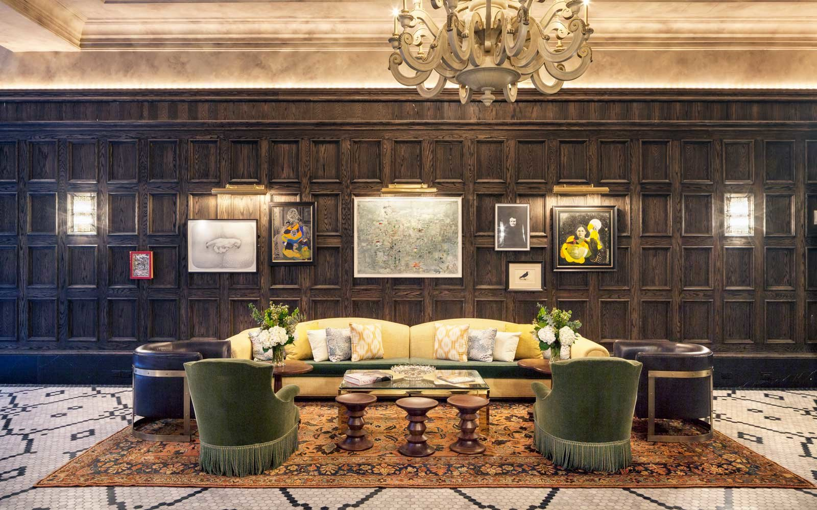 Lounge area at the Beekman Hotel