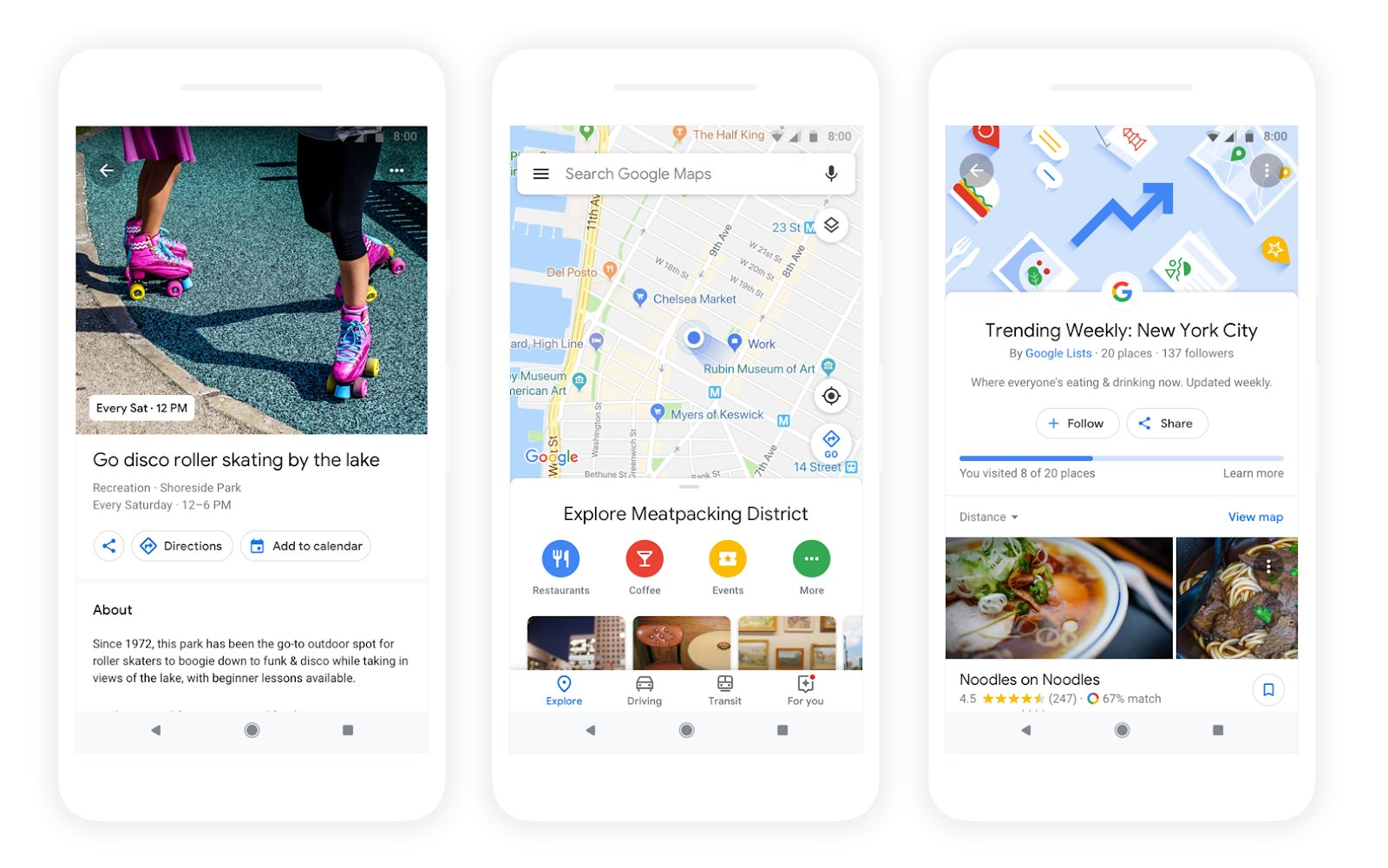 Google Maps is adding personalized matching to the Explore tab.