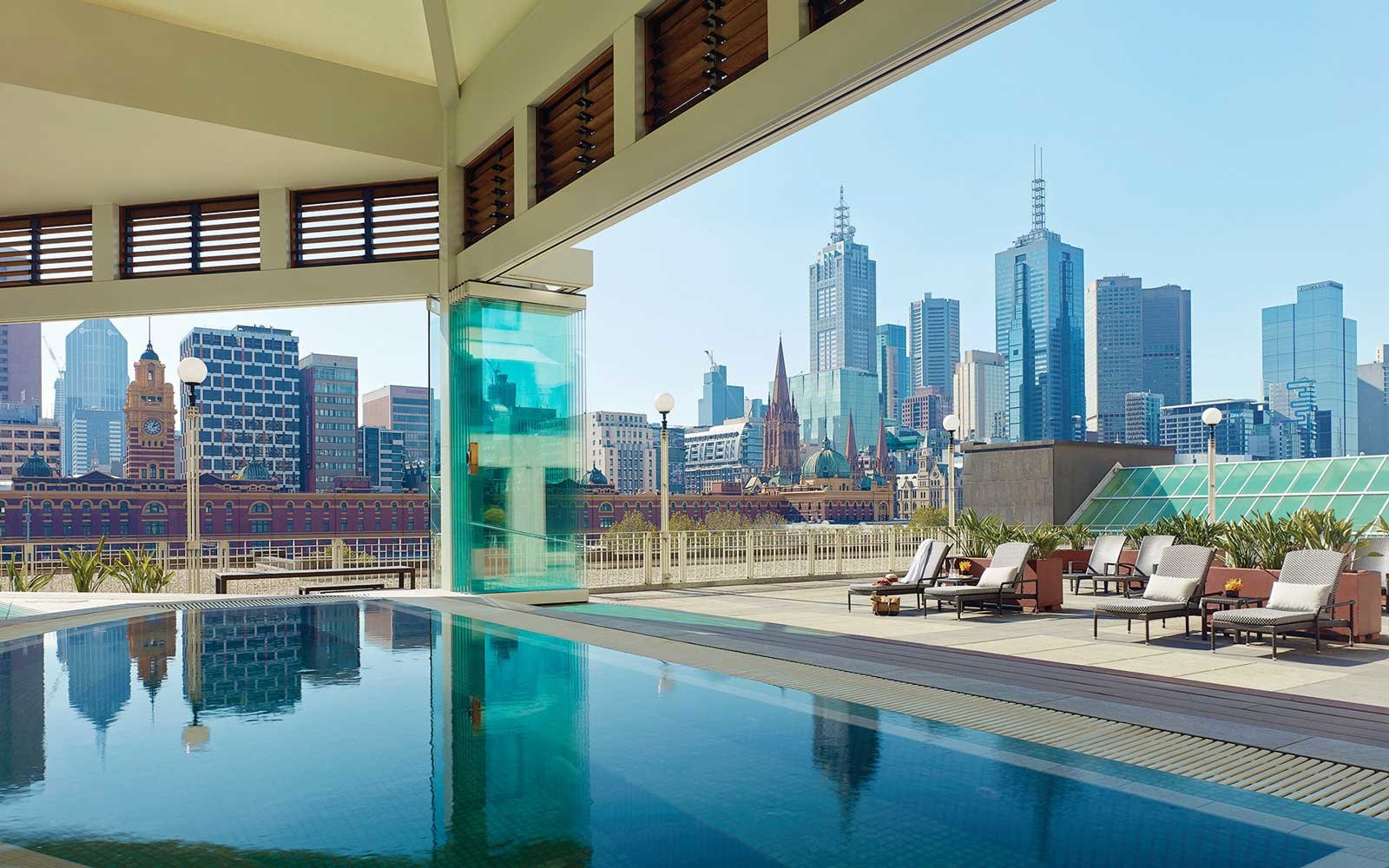 View from the jacuzzi at The Langham, Melbourne hotel