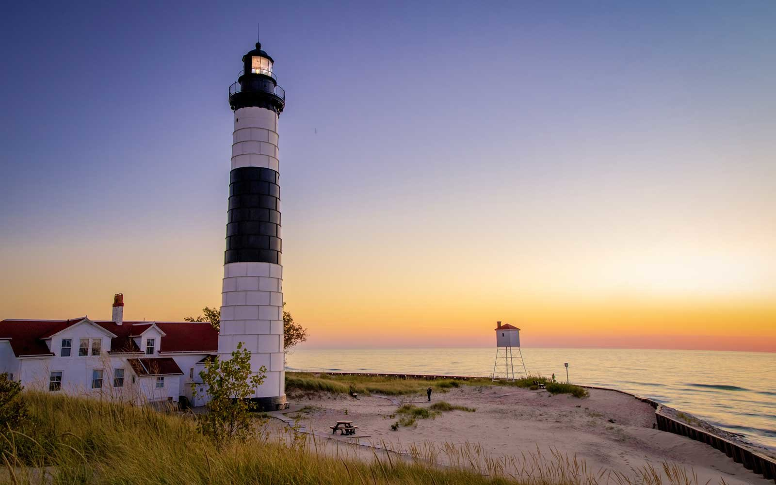 Ludington Lighthouse, Lake Michigan