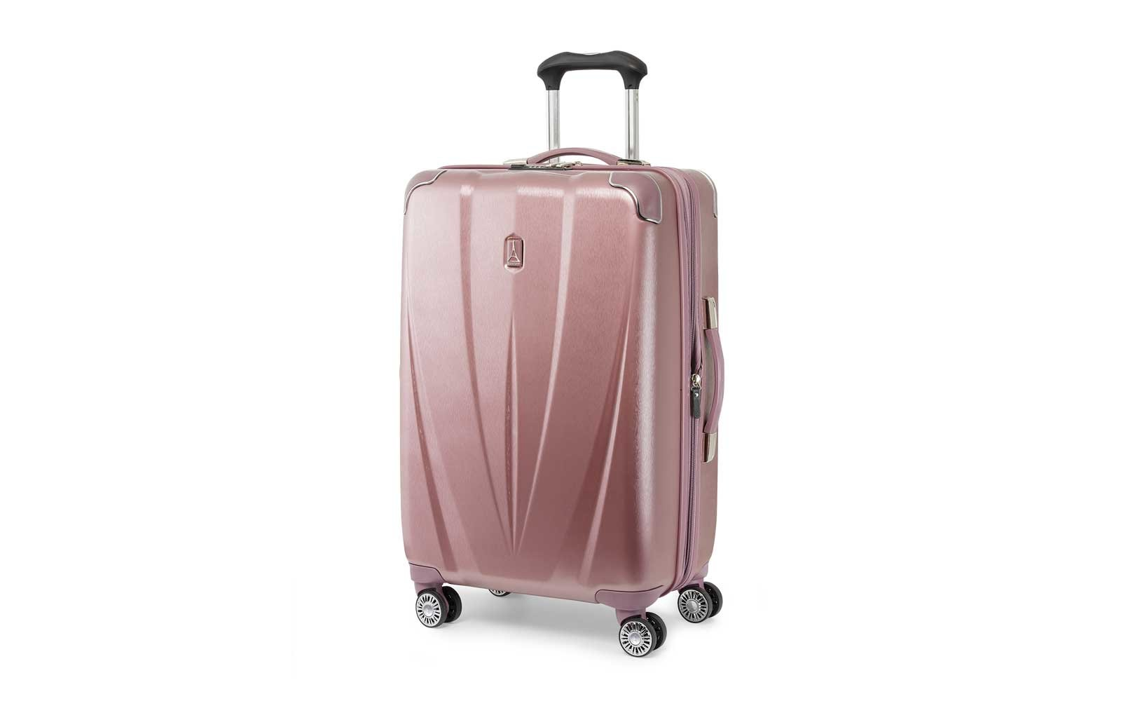 Travelpro Expandable Spinner Suitcase in rose