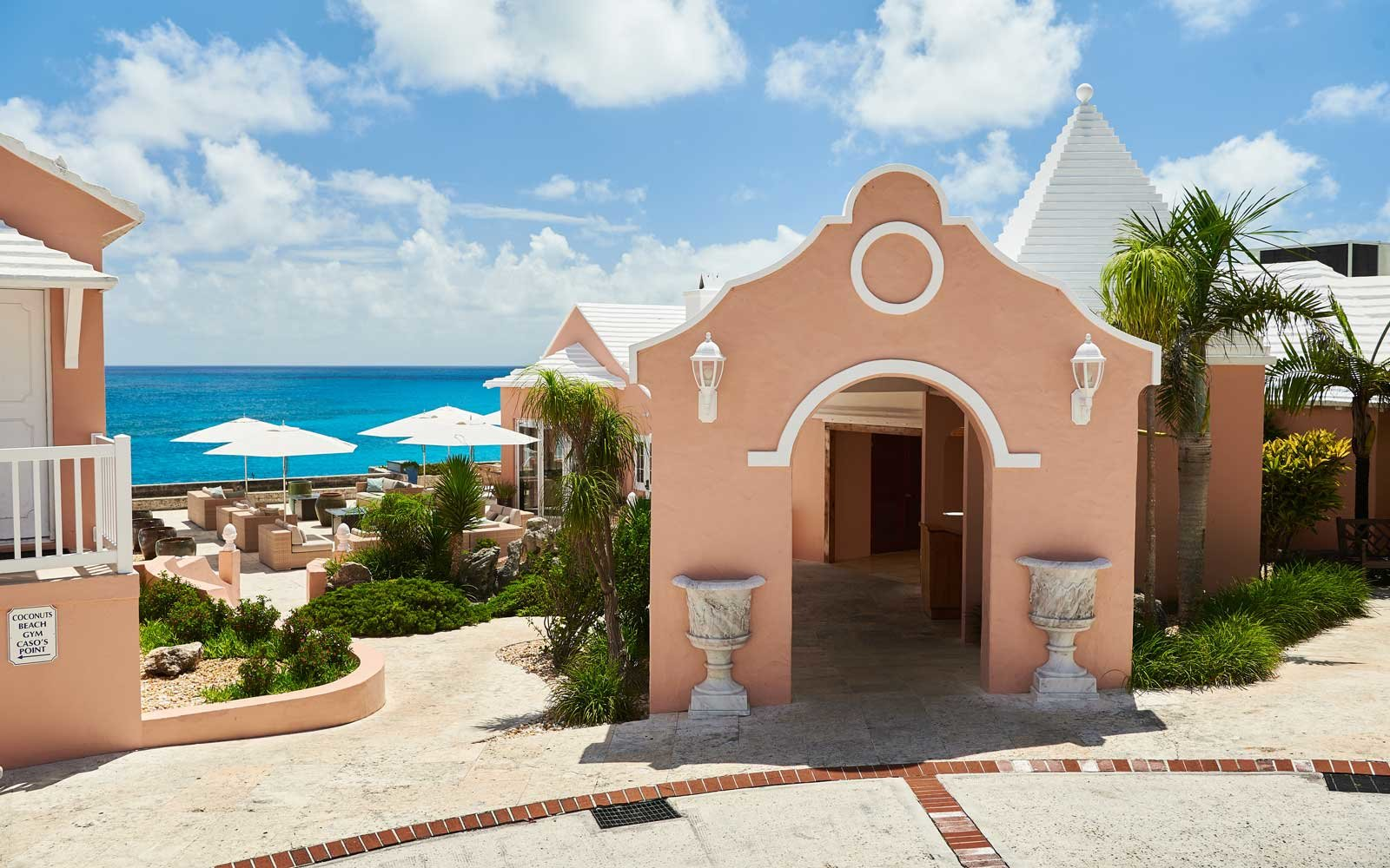 A building at The Reefs resort, in Bermuda