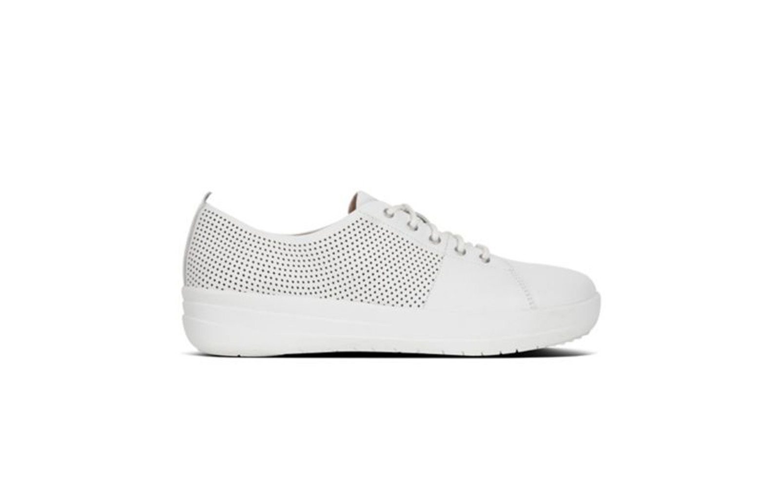 FitFlop F-Sporty TM Scoop-Cut Perf Leather Sneakers