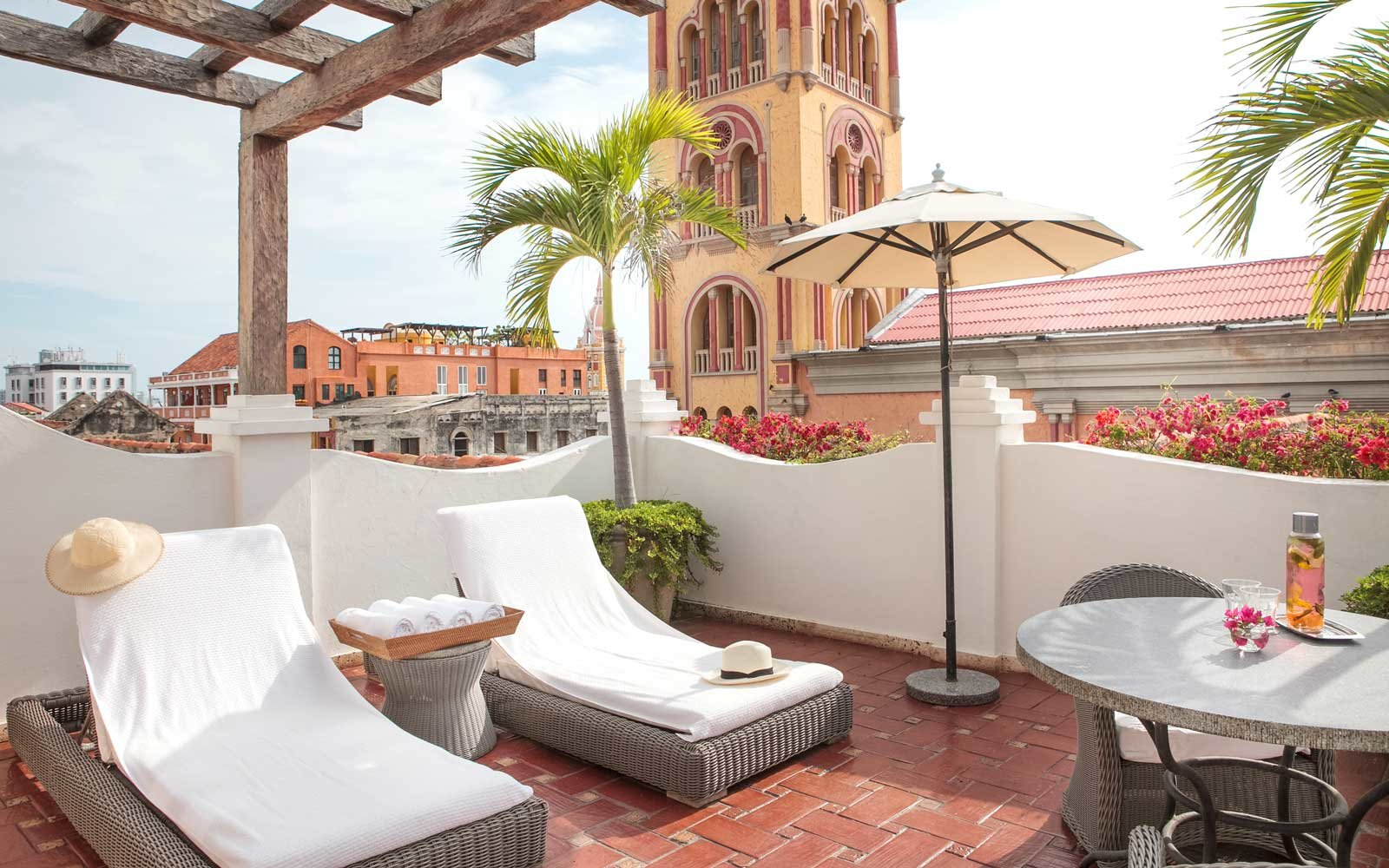 View from the rooftop of the Hotel Casa San Agustin