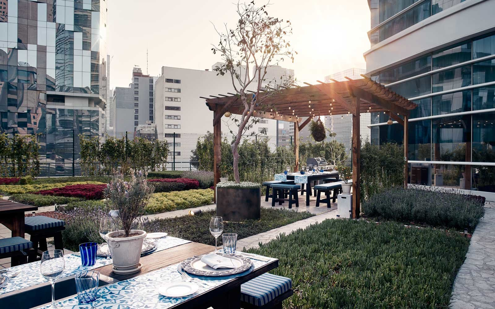Smoak garden at the St Regis Mexico City