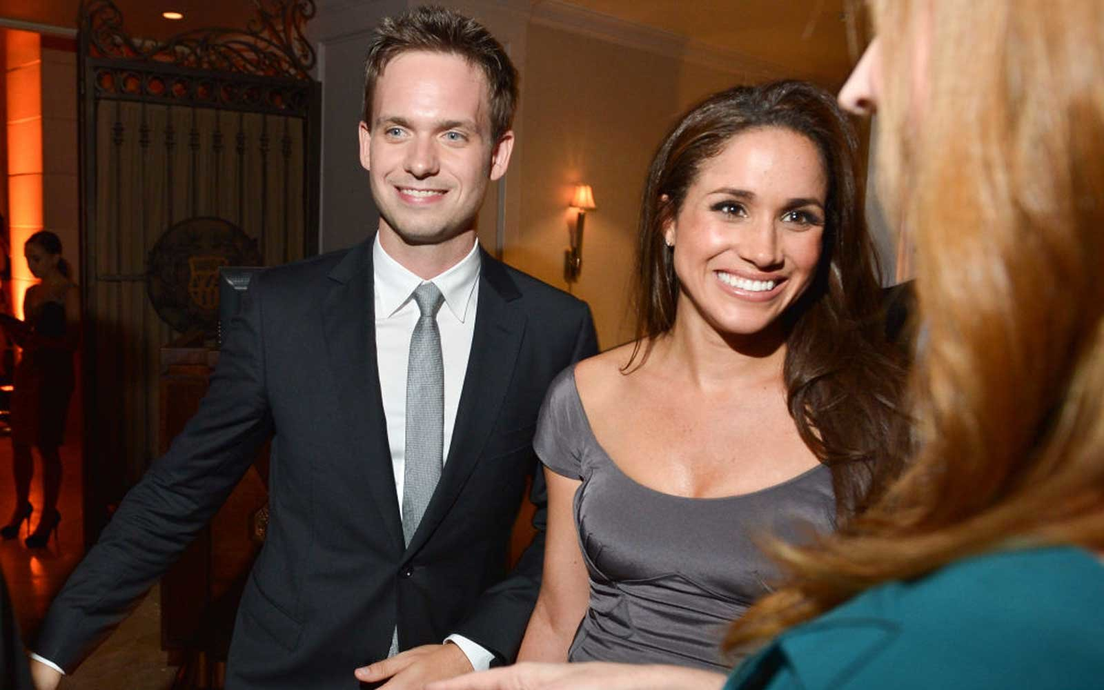 Patrick J. Adams and Meghan Markle  attend the InStyle and Hollywood Foreign Press Association's Toronto International Film Festival Party at Windsor Arms Hotel on September 11, 2012 in Toronto, Canada.