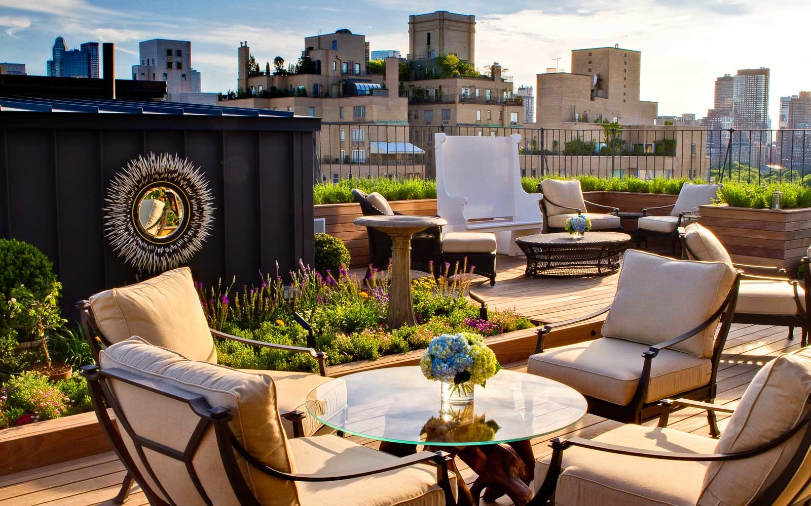 Roof garden at the Surrey Hotel in New York