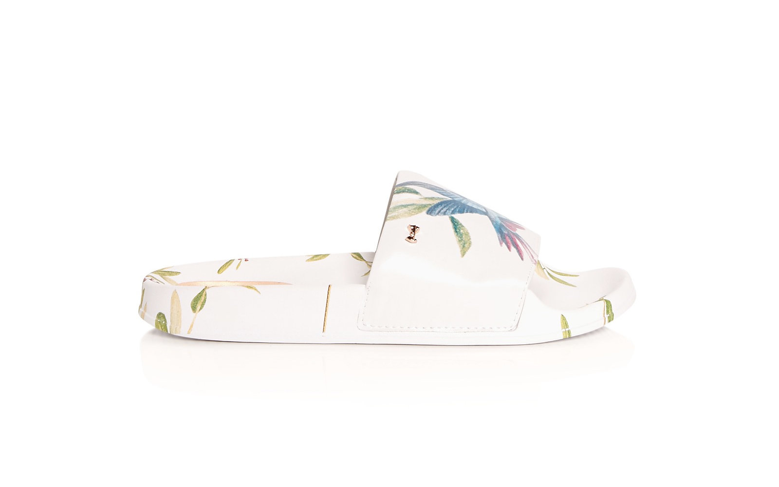 Ted Baker 'Aveline' Hummingbird Print Pool Slide Sandals