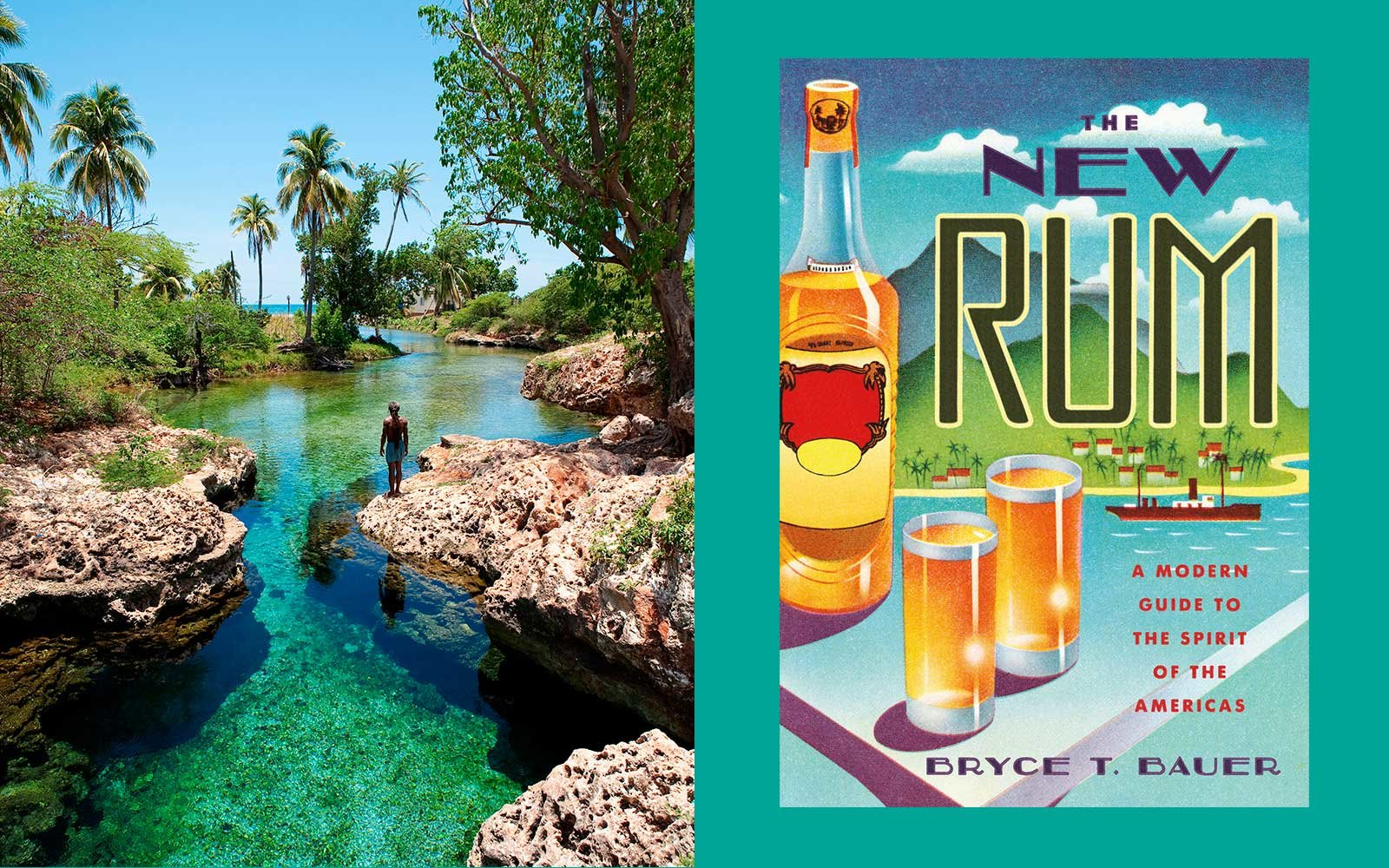 Black River in St Elizabeth, Jamaica and the book New Rum
