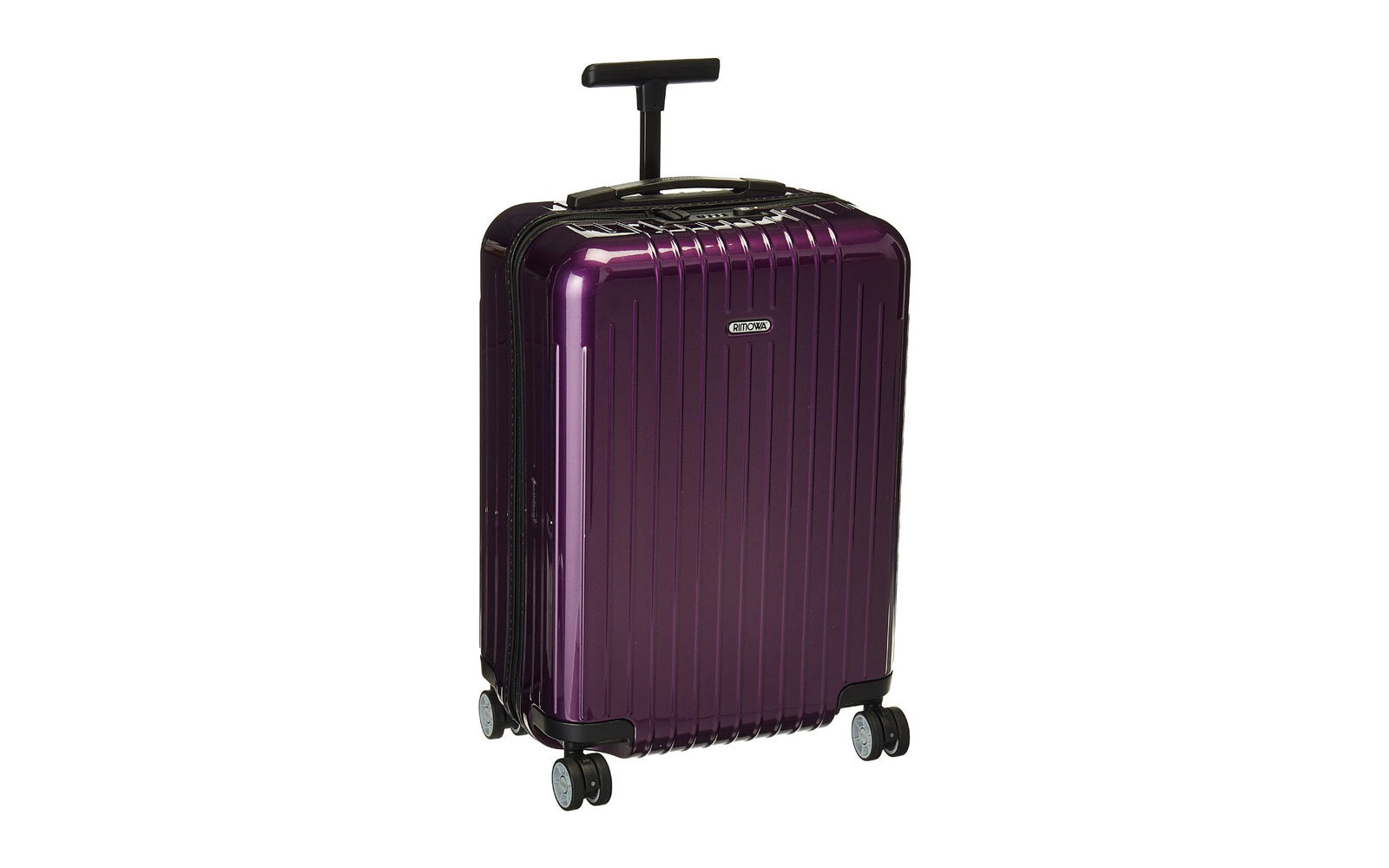 cute purple luggage
