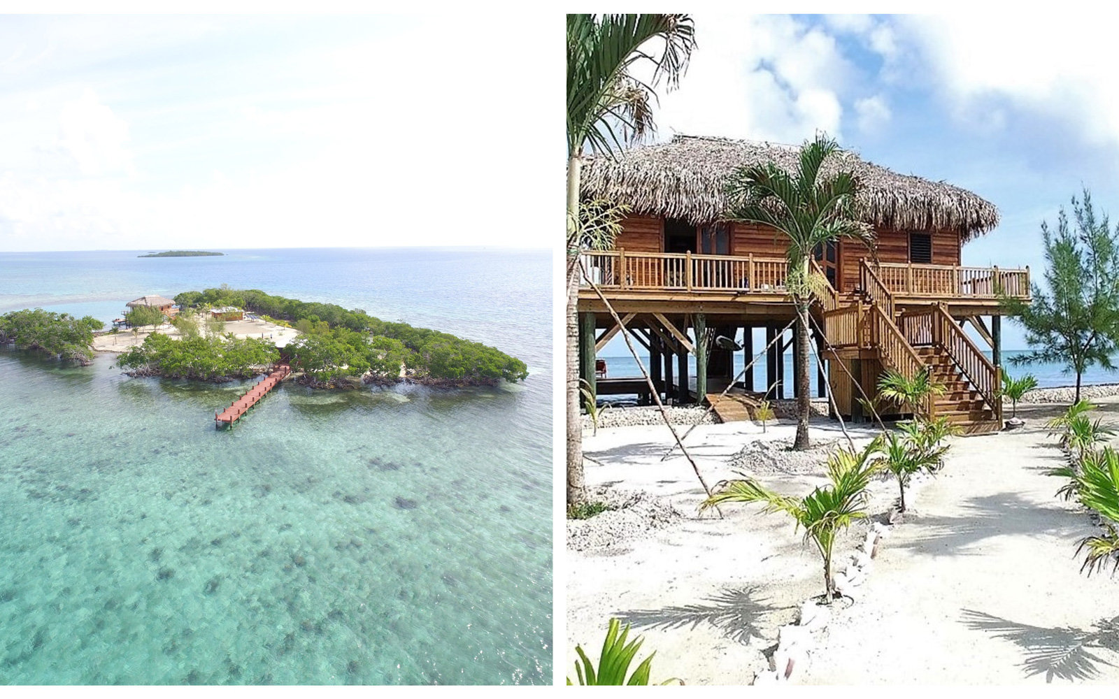 Private island with overwater bungalow
