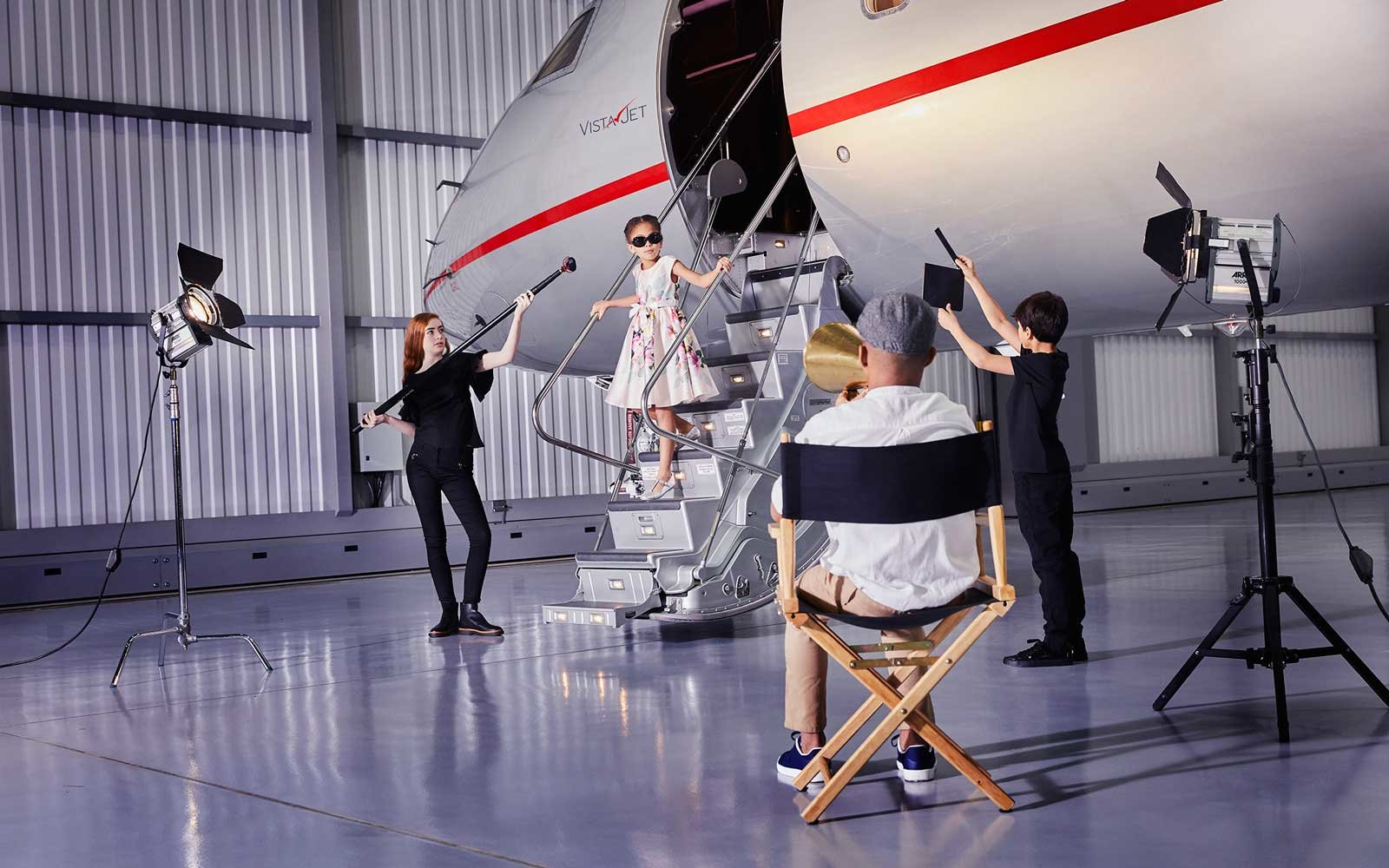 Movie experience on VistaJet, for kids