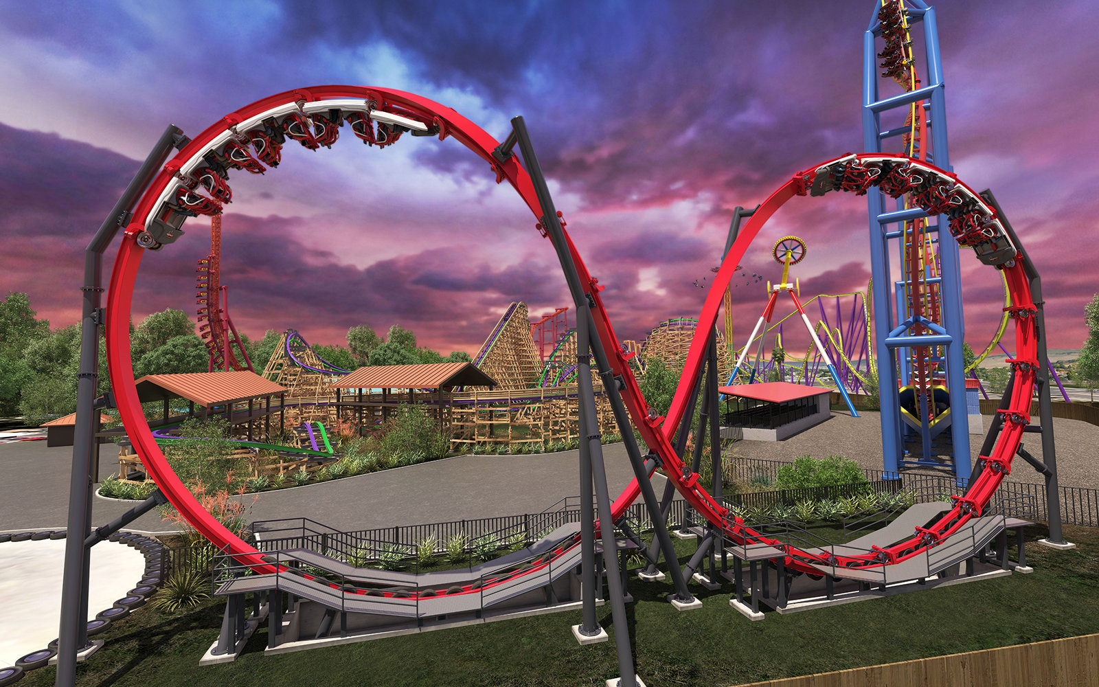 Harley Quinn Crazy Coaster — Six Flags Discovery Kingdom