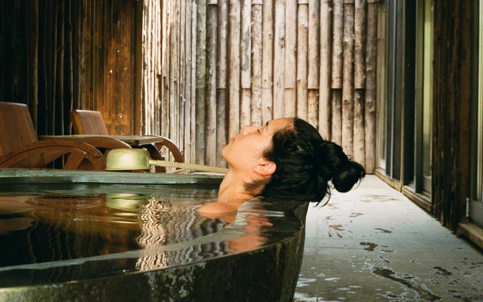 Geothermal bath at Zaborin Ryokan, in Japan
