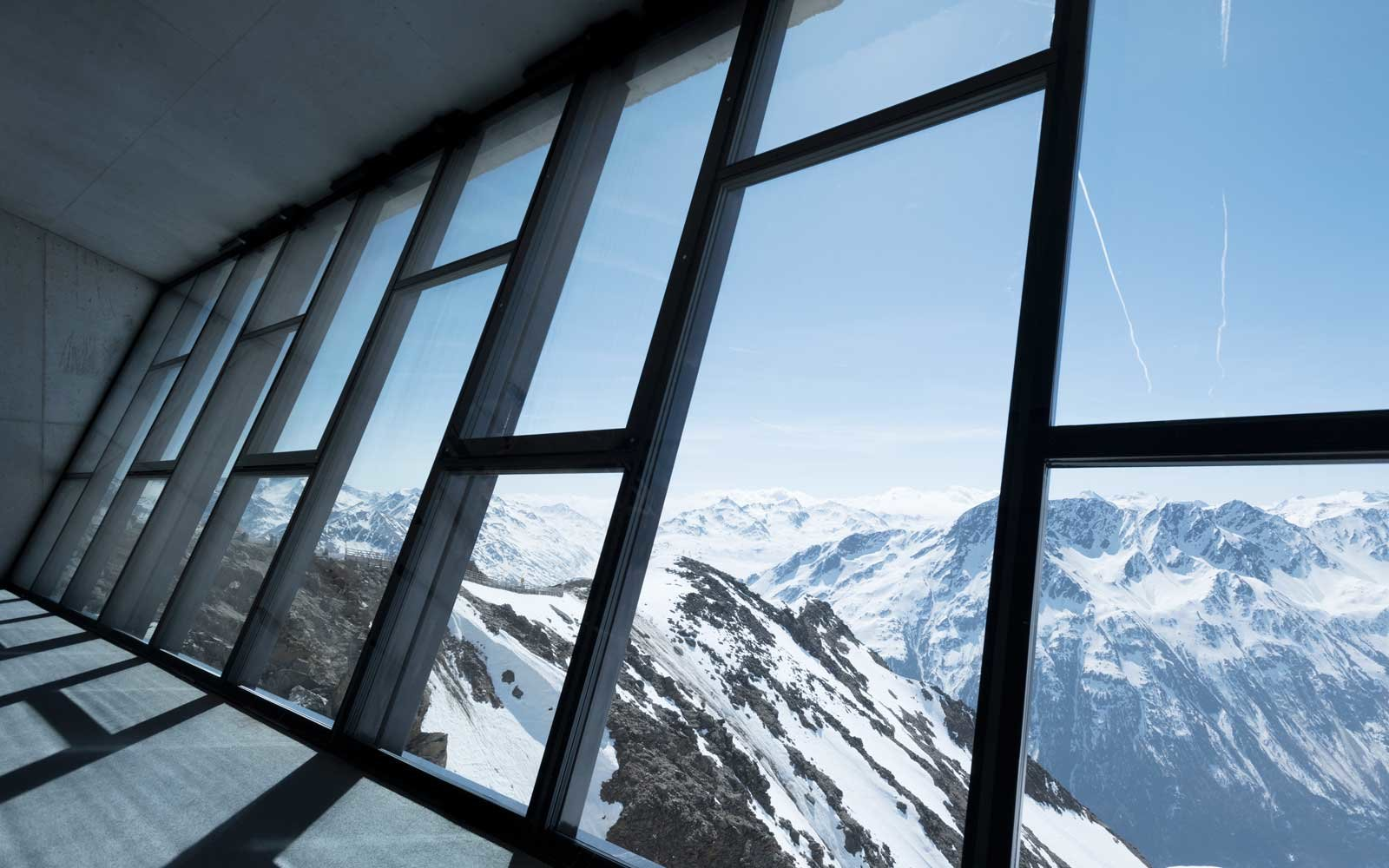 View from the Action Hall at the 007 Elements James Bond experience in Austria