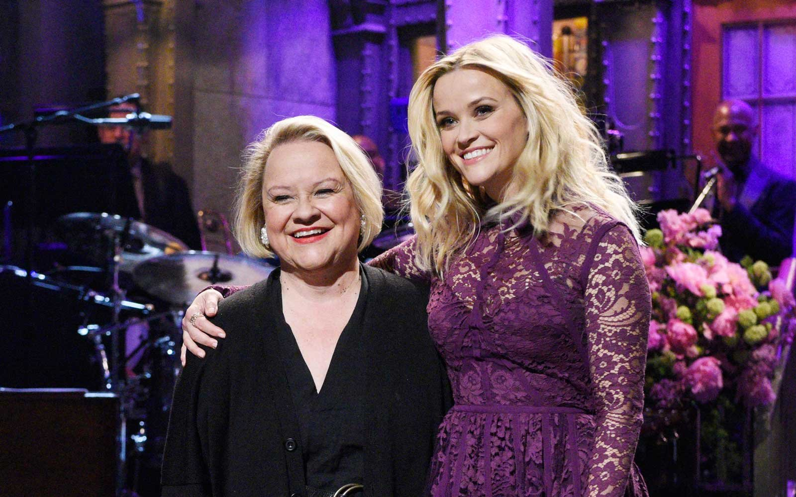 Reese Witherspoon and her mom Betty at a taping of Saturday Night Live