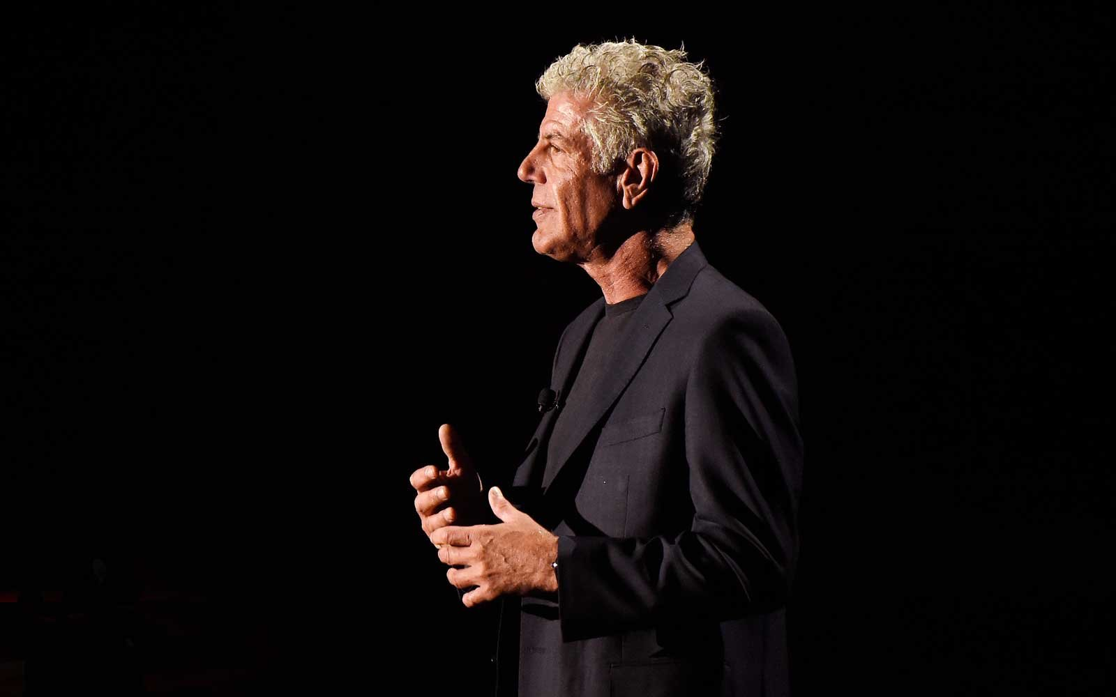 Anthony Bourdain at the Turner Upfronts in 2017