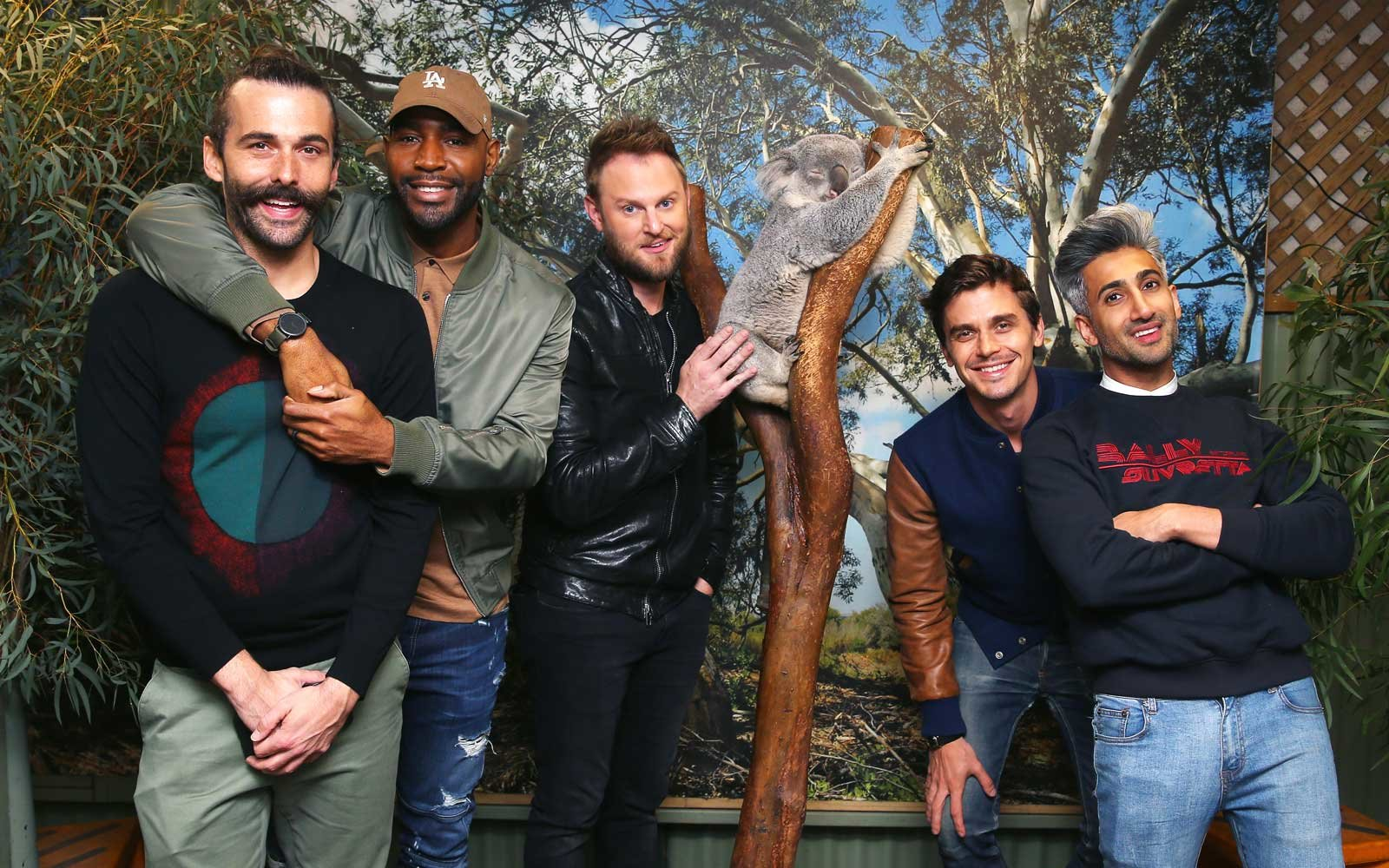 cast of Queer Eye visits the Featherdale Wildlife Park in Sydney, Australia