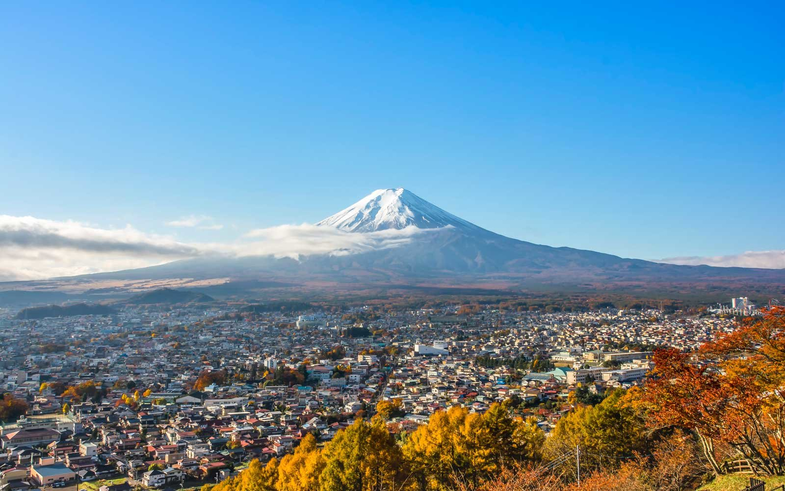 Autumn in Japan: view of Mount Fuji.