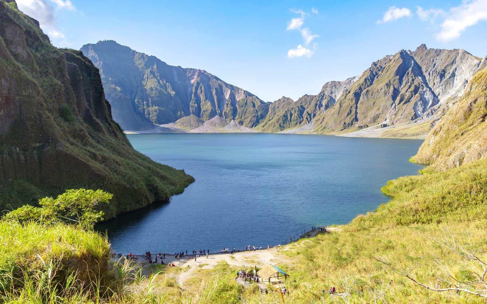 Beautiful landscape at Pinatubo Mountain Crater Lake
