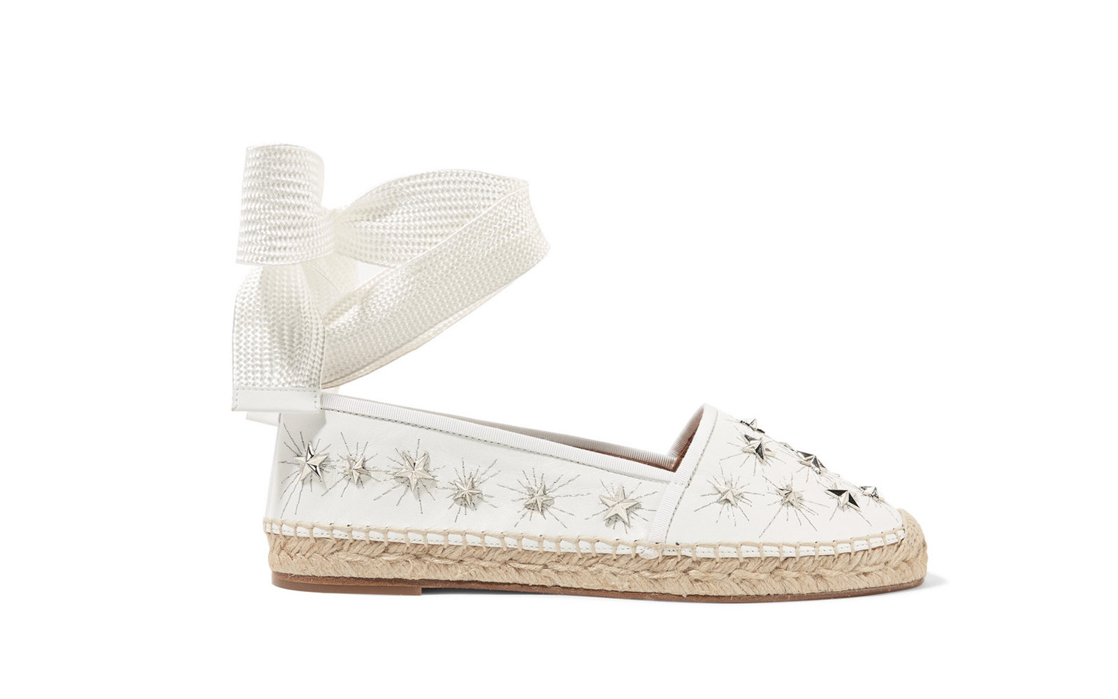 0f5bbdcf66ad Aquazurra Cosmic Stars embellished leather espadrilles