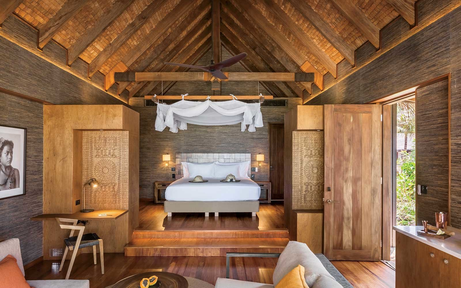 Six Senses Fiji bedroom