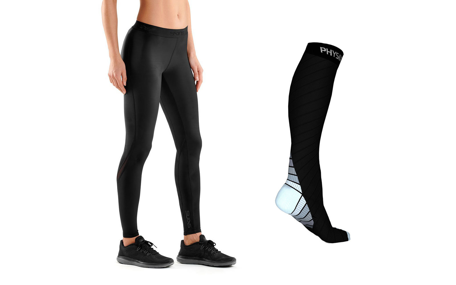 compression socks or leggings