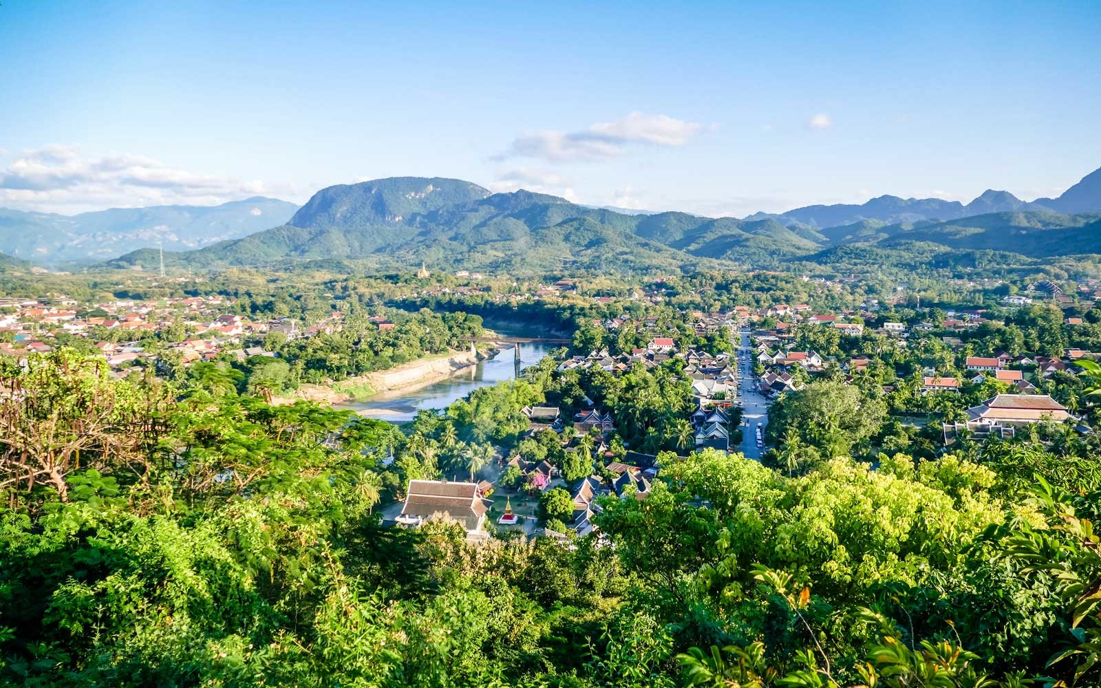 View of the Luang Prabang, Laos, skyline