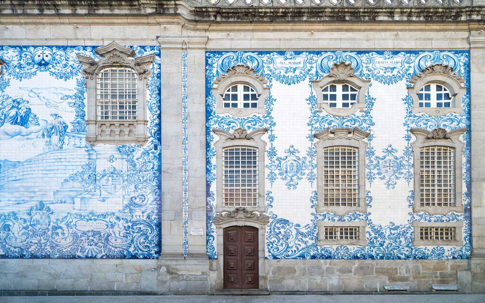Traditional tiled church in Porto, Portugal