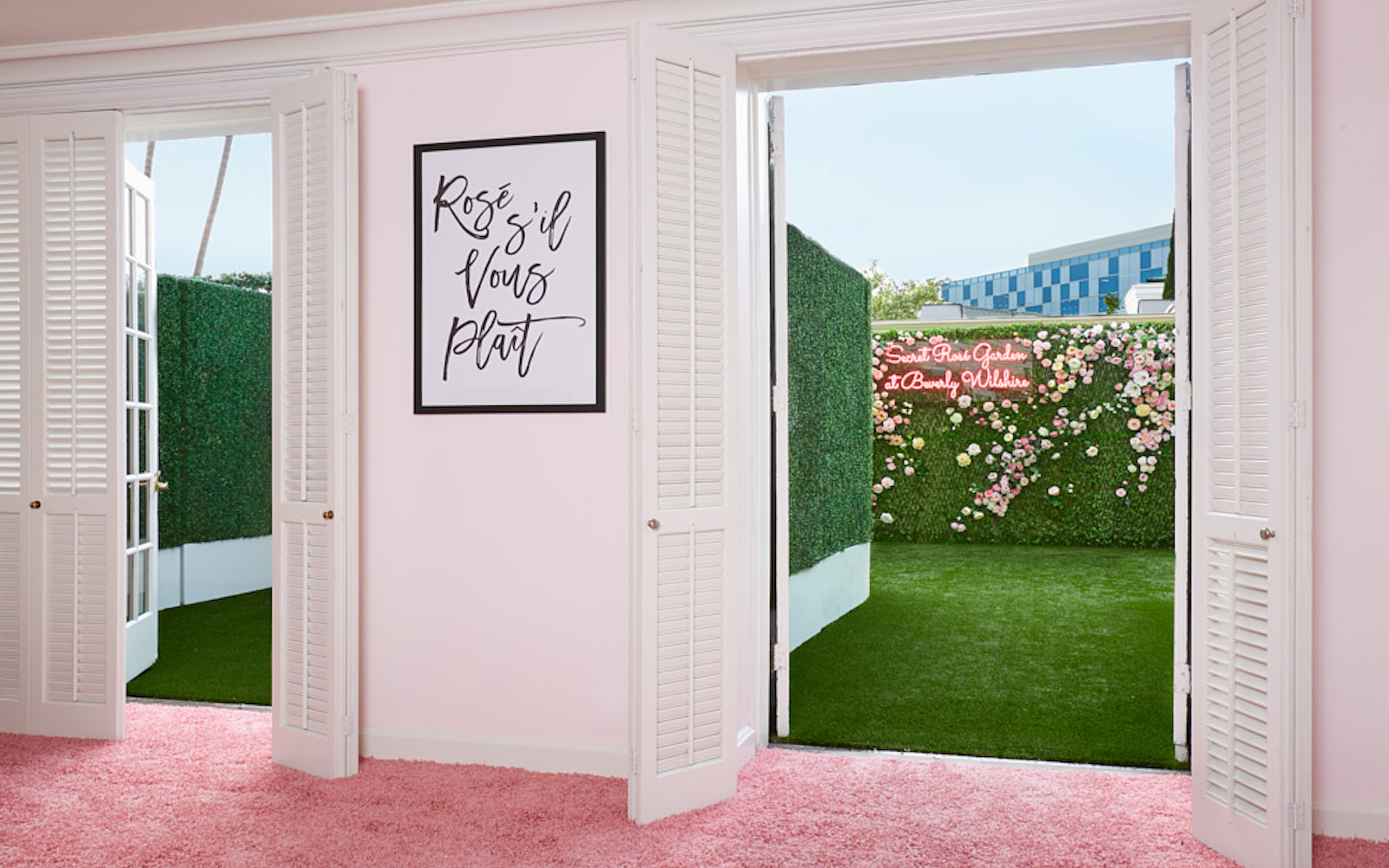 This Secret Rosé Garden Overlooking Rodeo Drive Will Be the L.A. Rooftop of the Summer