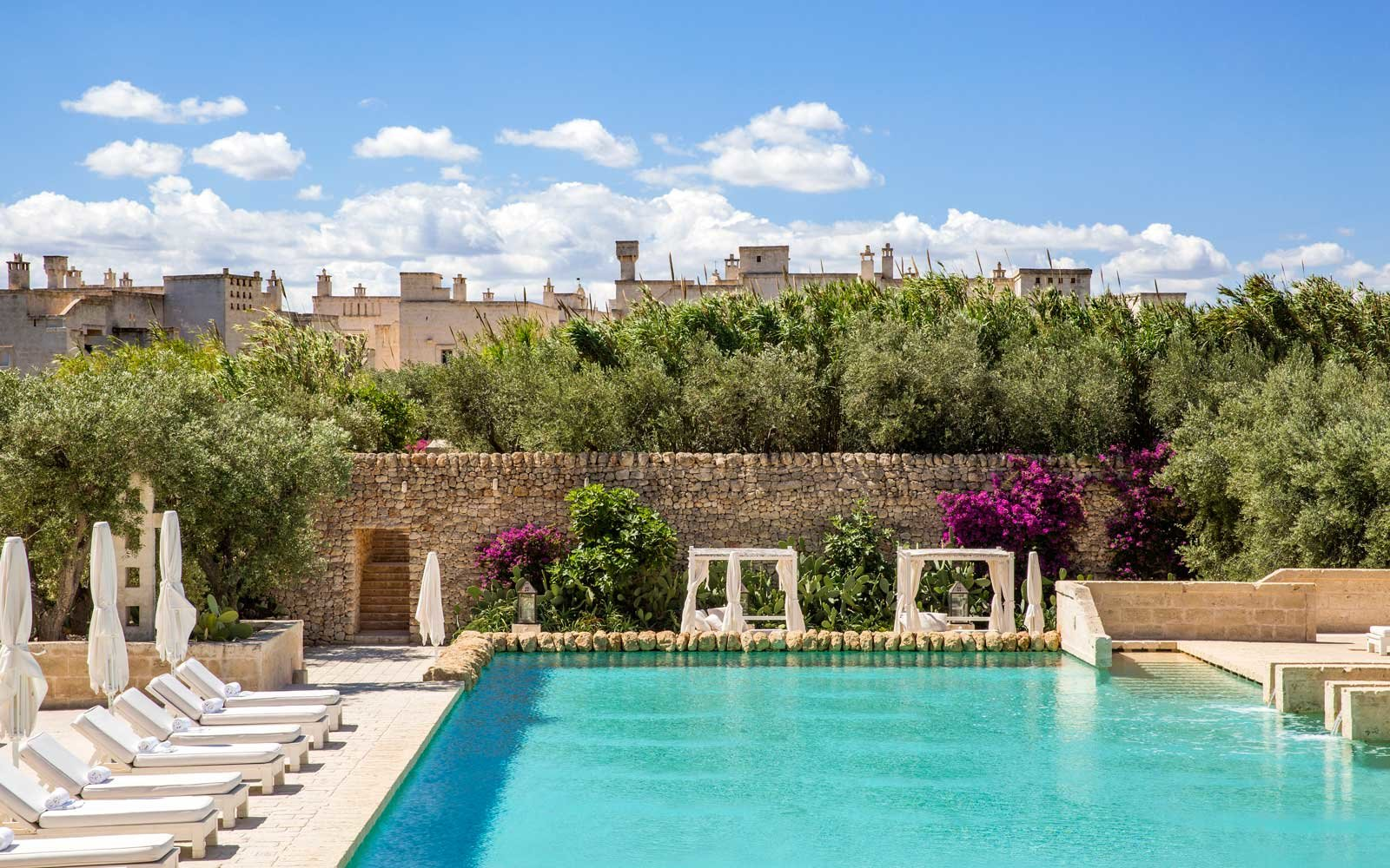 Pool at the Borgo Egnazia hotel in Italy