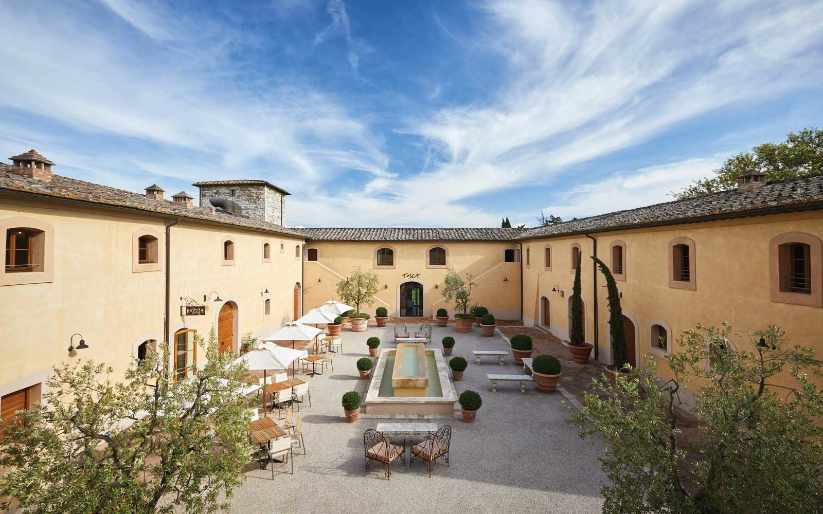 Courtyard at the Castello di Casole
