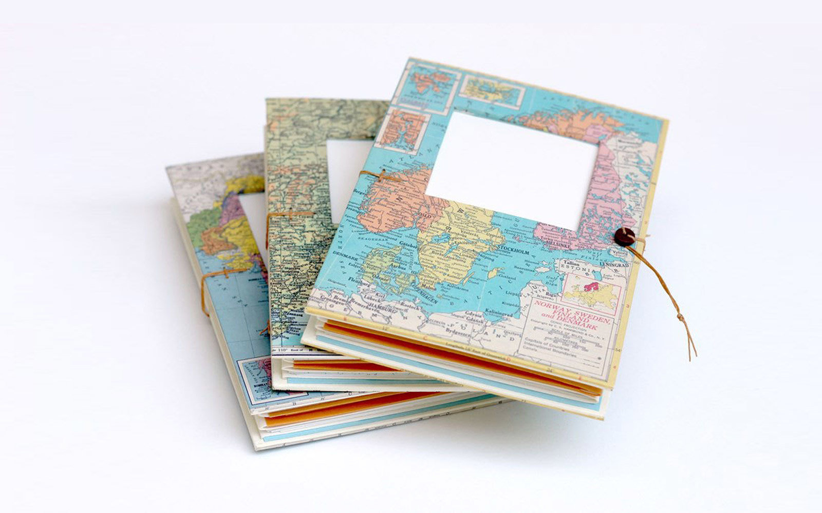 map pocket travel journal