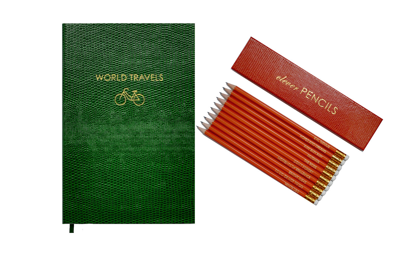Sloane Stationery World Travels Pocket Notebook & Clever Pencils