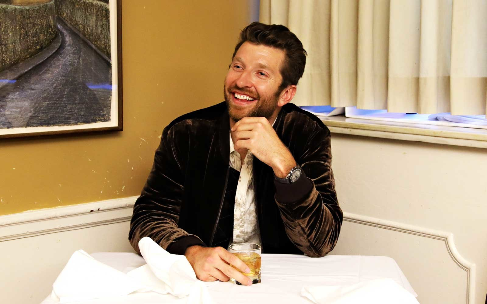 Brett Eldredge At Patsy's Italian Restaurant In New York City
