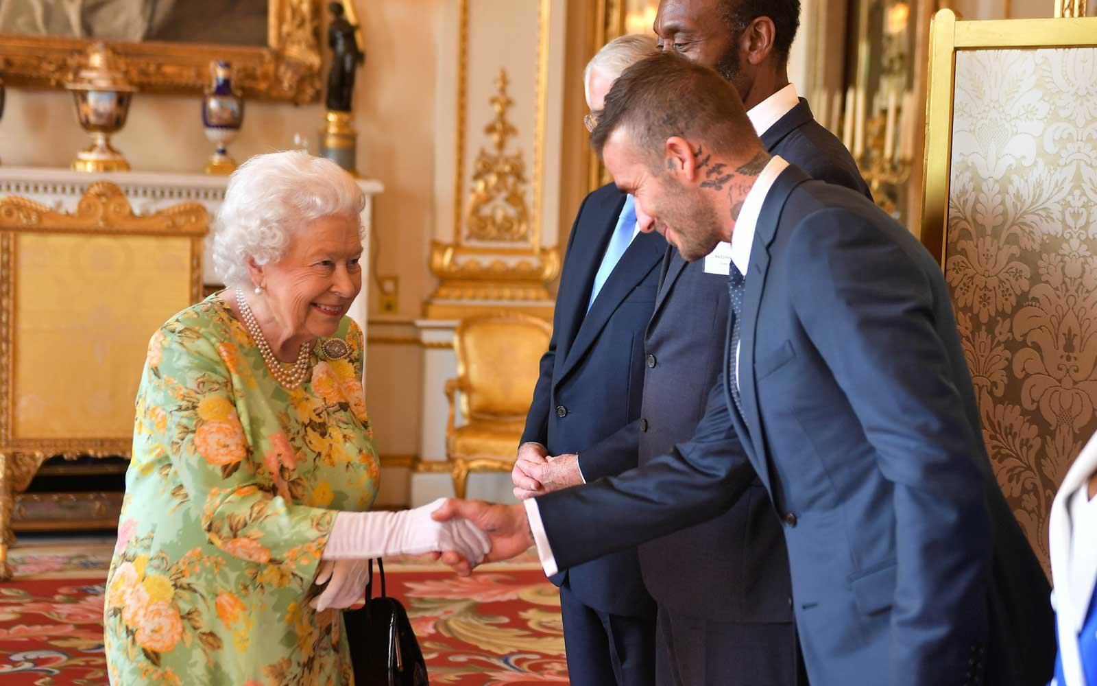The Queen Quietly Gushing Over David Beckham Is The Video You Need