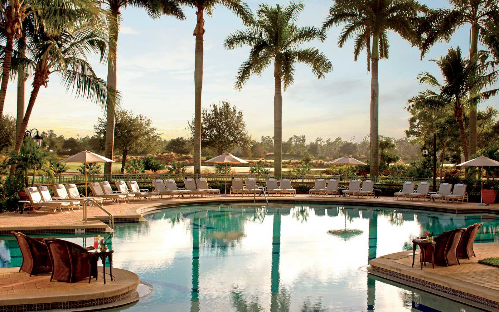 A pool at the Ritz-Carlton Golf Resort in Naples, Florida