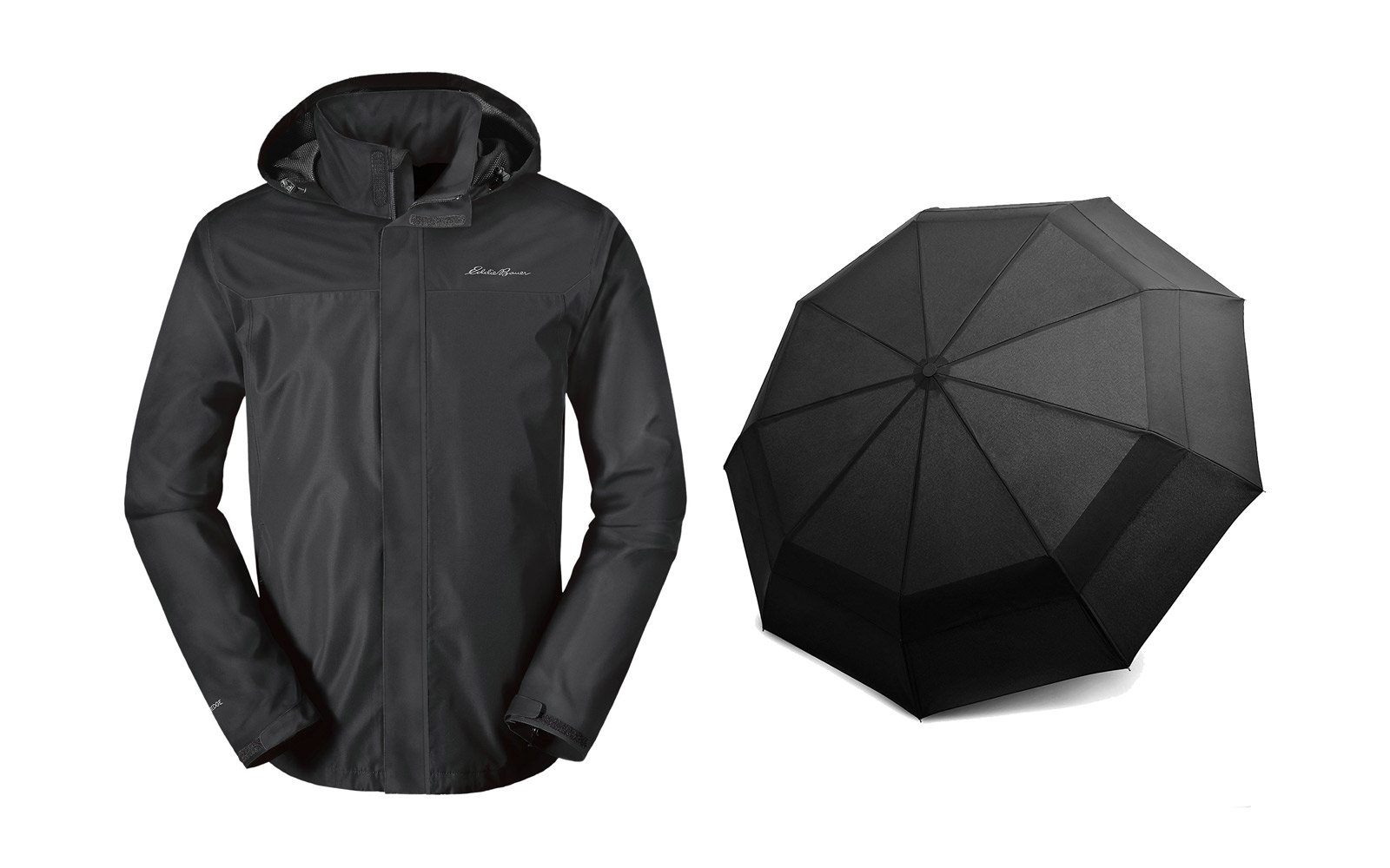rain jacket umbrella