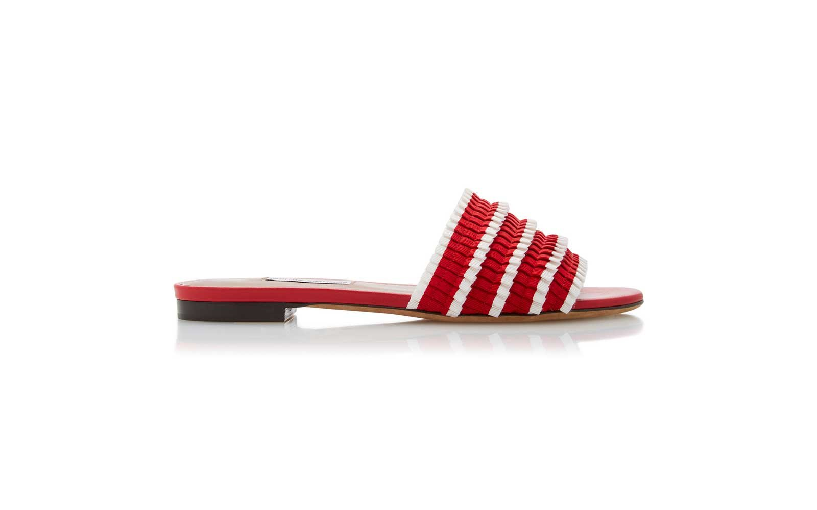 Tabitha Simmons Sprinkles Pleated Slides