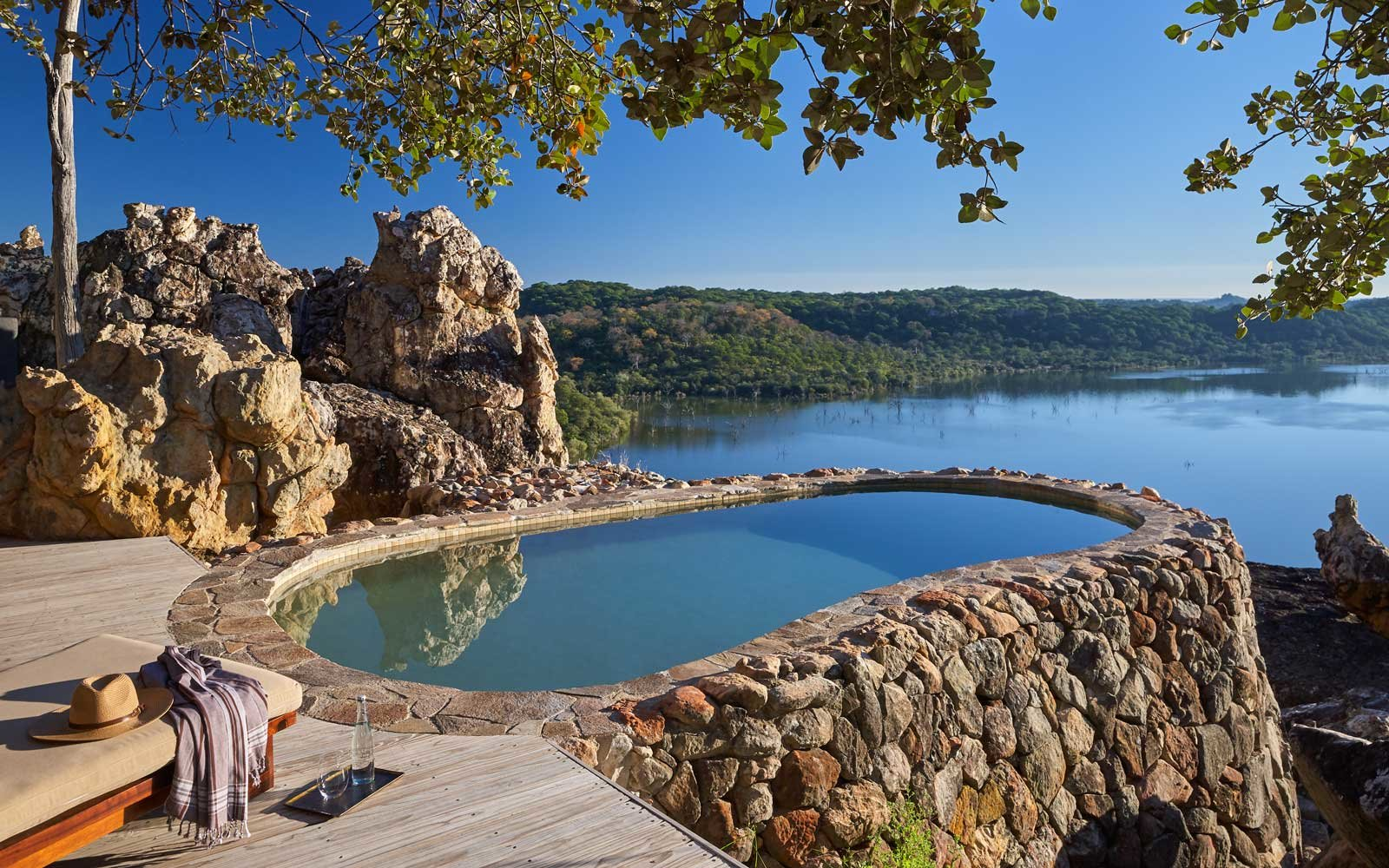 A villa pool at Singita Pamushana