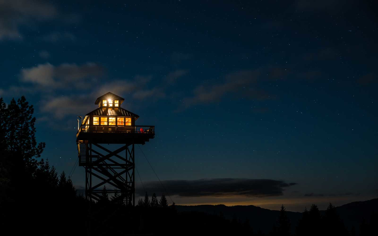 Fire Lookout Towers built by the US Forest Service in the early 1900s in Oregon